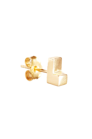 GOLD LEDGE EARRING