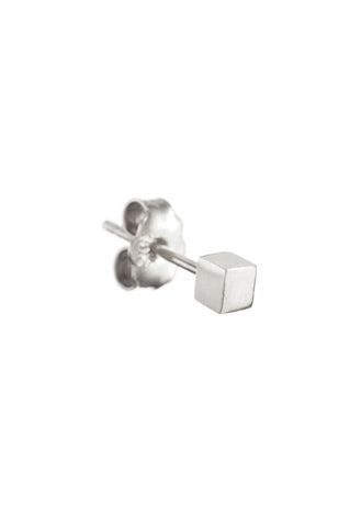 SILVER BOX EARRING