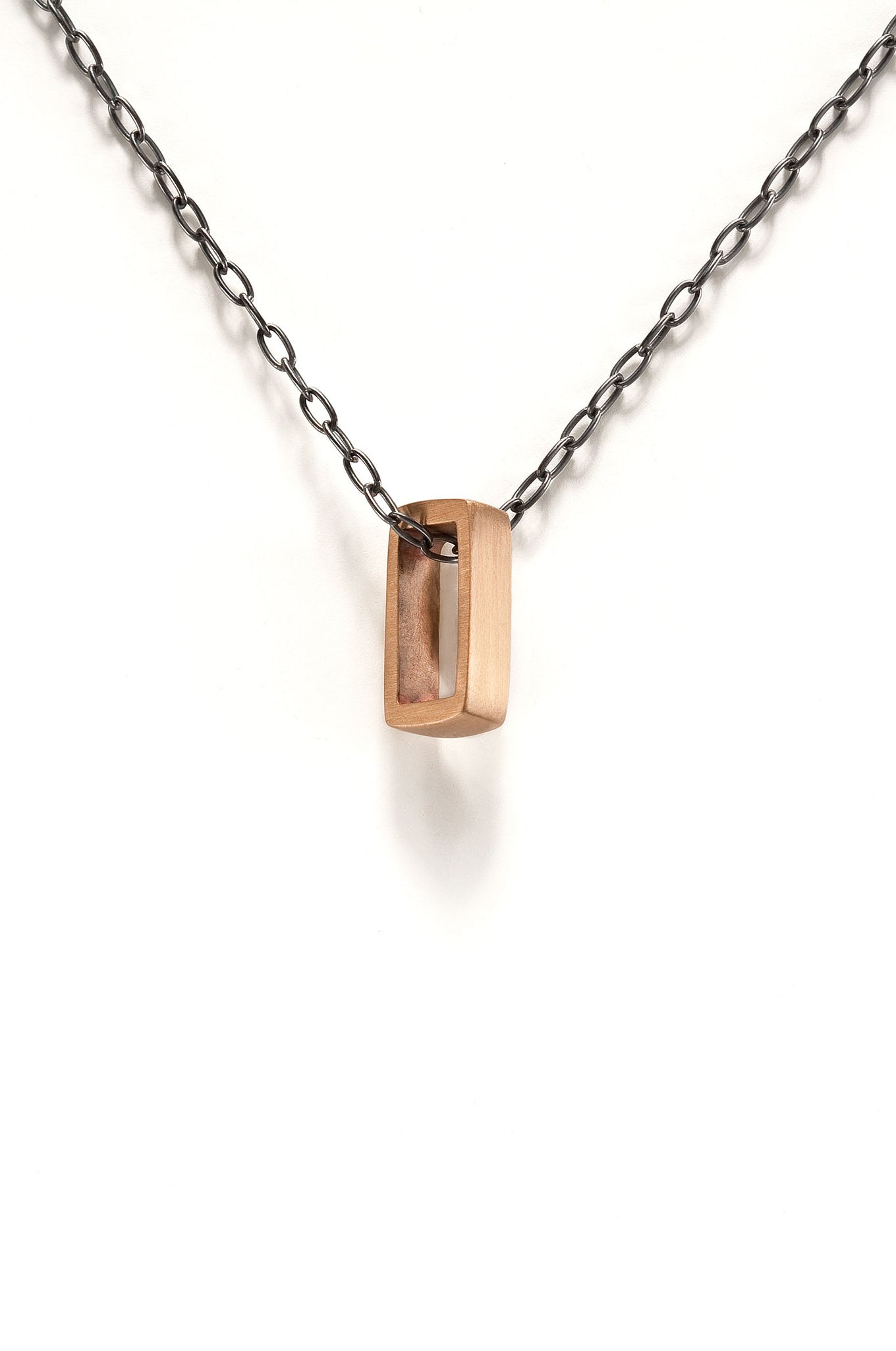 Small Bronze Reck Necklace