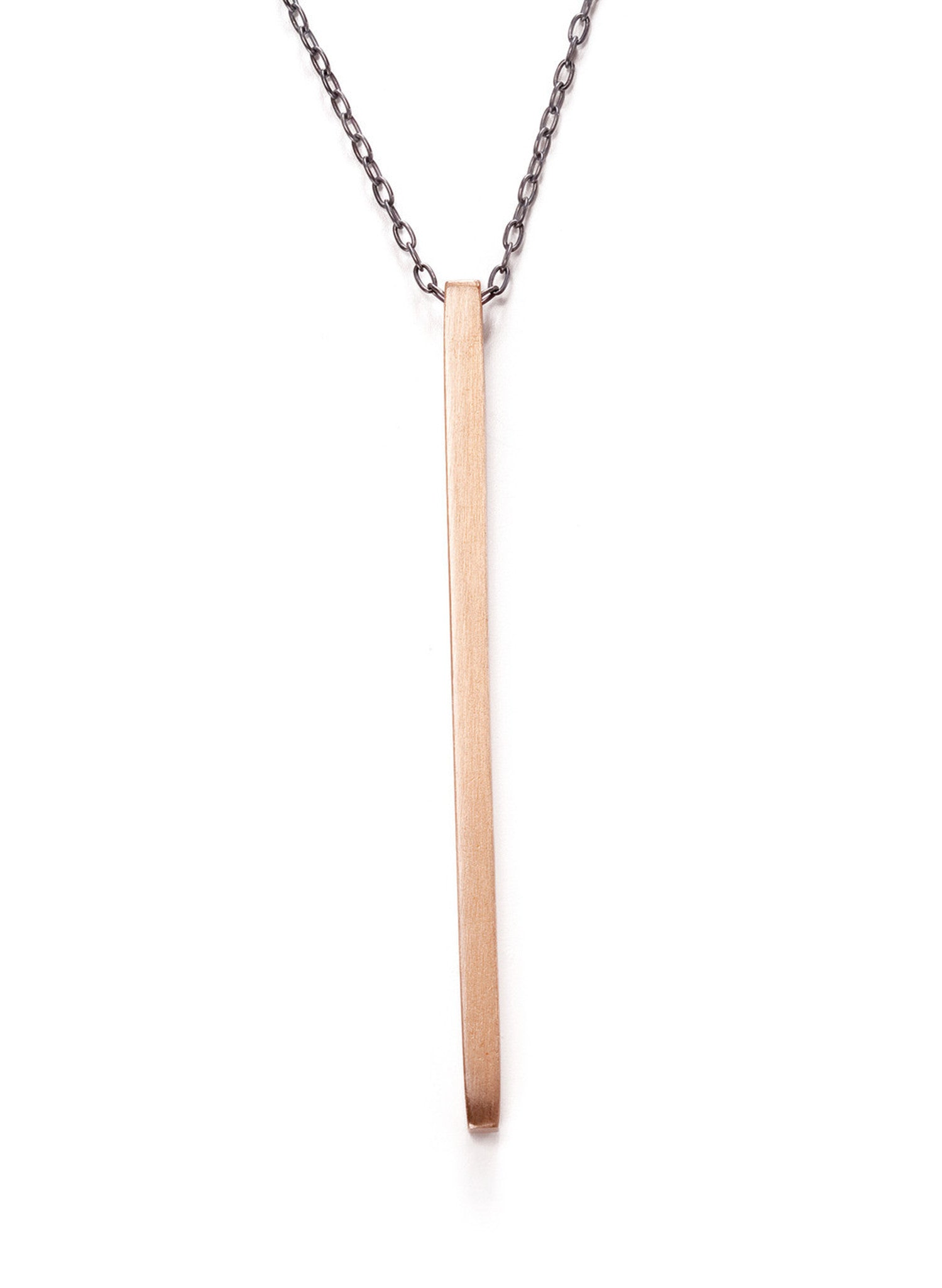 The Bronze Reck Bar Necklace