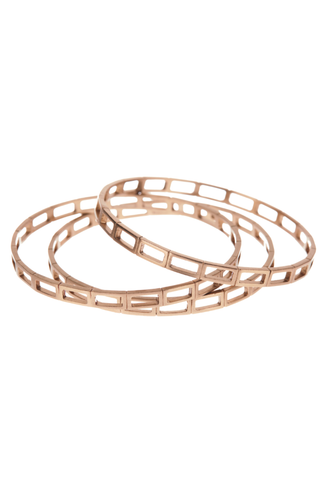 Set Bronze Print Bangle