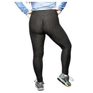 High Waisted Brazilian Leggings, Black