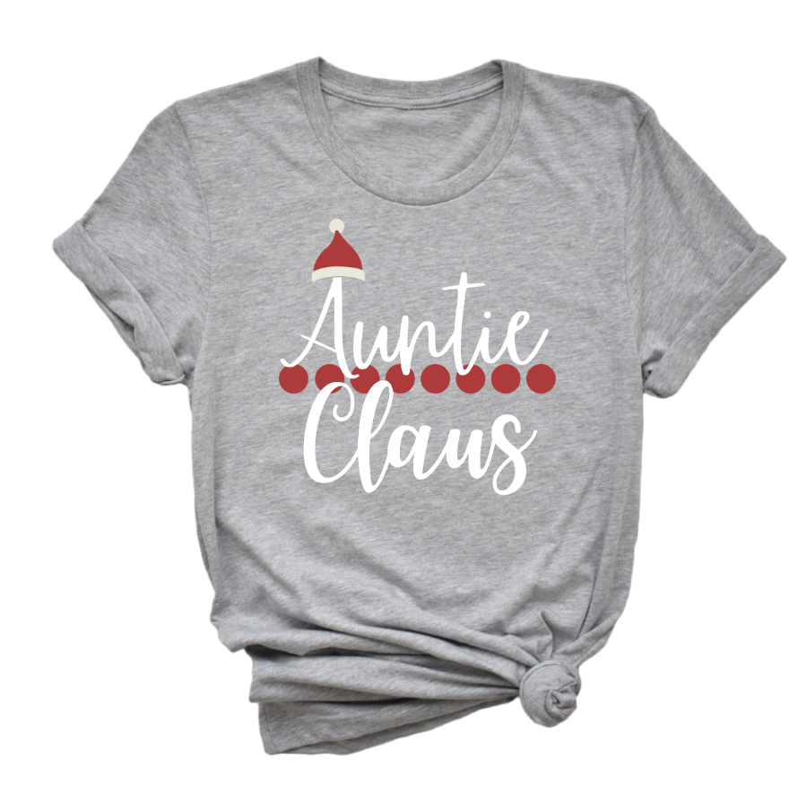 Auntie Claus Tee - My Eclectic Gem