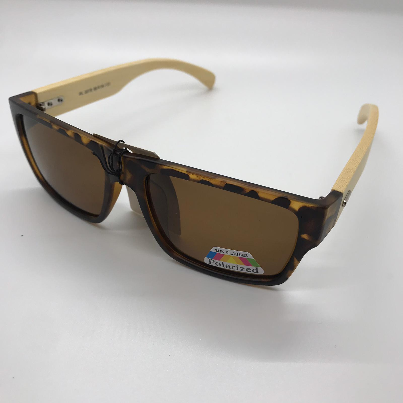 Polarized Brown Bamboo Sunglasses  Women