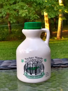 Pure Vermont Maple Syrup in jug made by Tucker Maple Sugarhouse