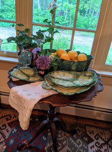 Vietri Leaf Bowl and 3 Vietri Leaf Plates