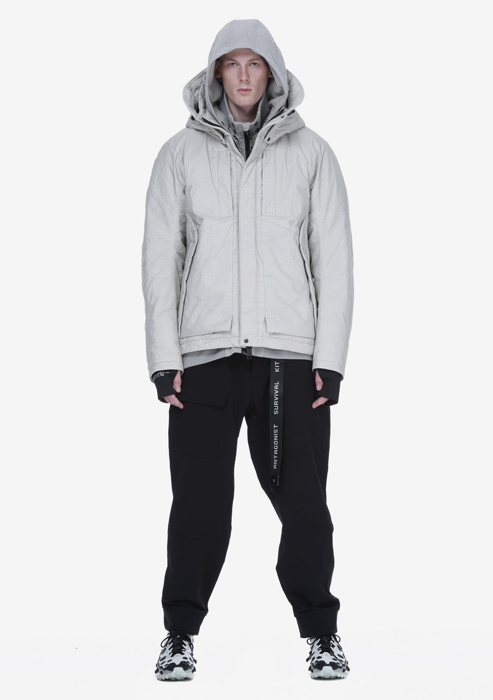 Removable Hood Padded Jacket Qm274-3 LARSEN