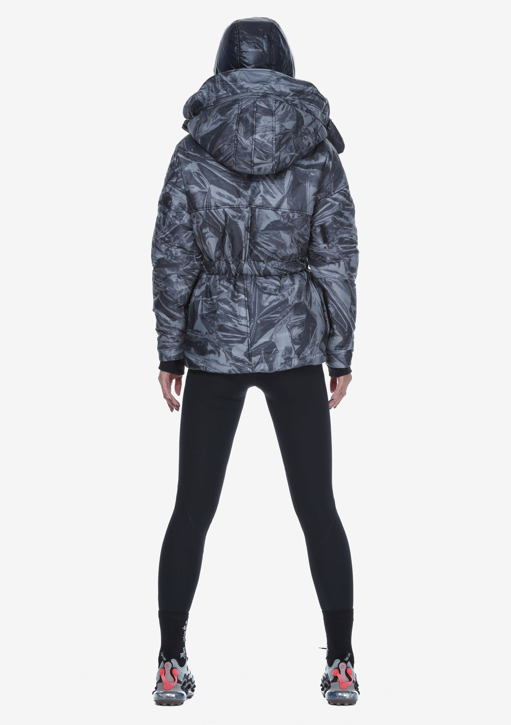 Removable Hood Padded Jacket Qw260-23 LARSEN