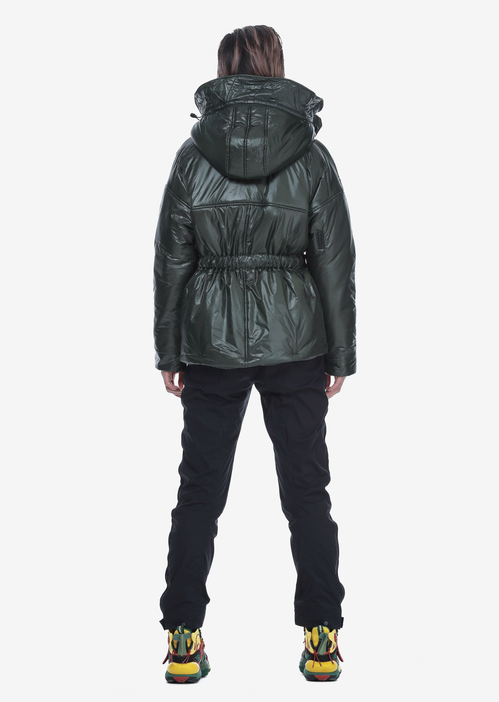 Removable Hood Padded Jacket Qw260-5 LARSEN