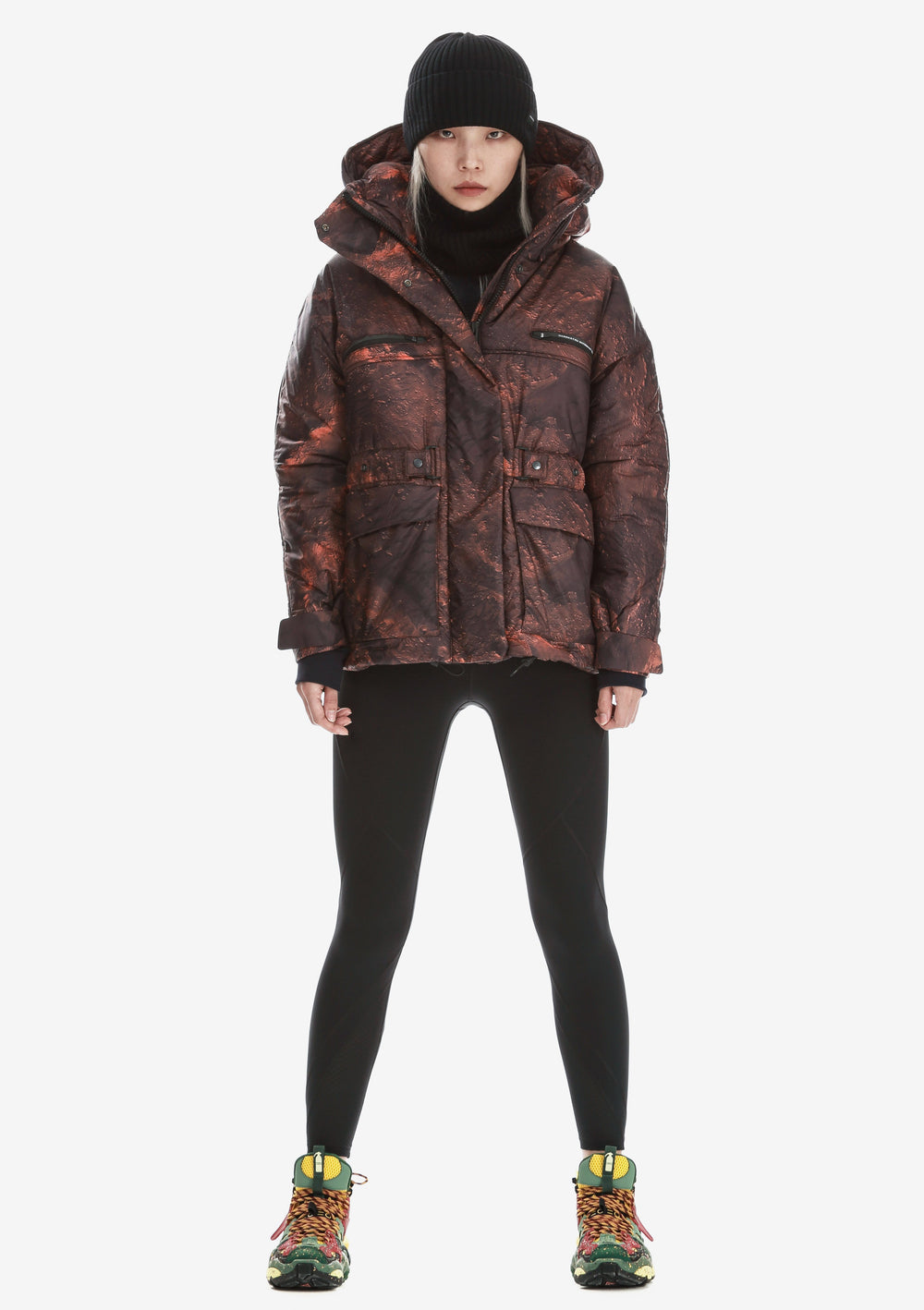 Removable Hood Padded Jacket Qw260-96 LARSEN