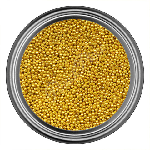 Gold Dark Caviar Beads