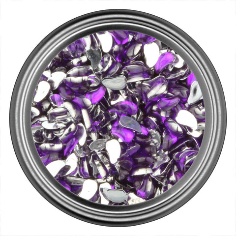 Purple Dark Comma Rhinestones