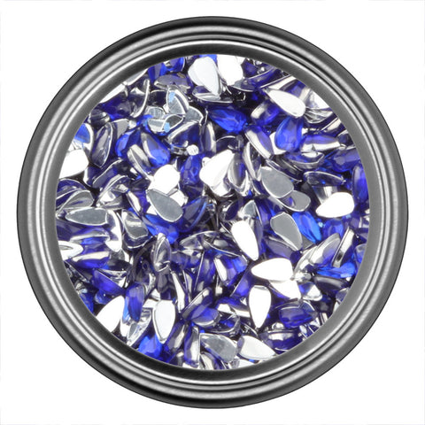 Blue Dark Tear Drop Rhinestones