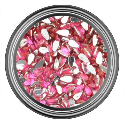 Pink Dark Drop Rhinestones