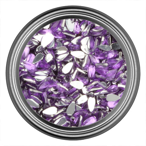 Purple Light Tear Drop Rhinestones