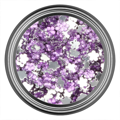 Purple Light Flower Rhinestone