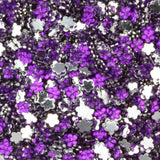 Purple Dark Flower Rhinestone