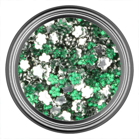 Green Flower Rhinestone