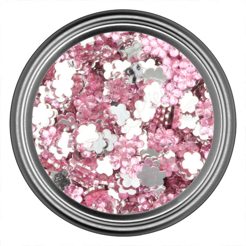 Pink Light Flower Rhinestone