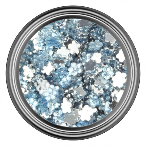 Blue Light Flower Rhinestone