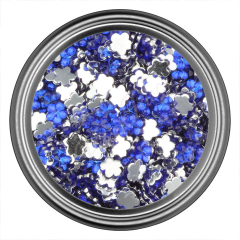 Blue Dark Flower Rhinestone