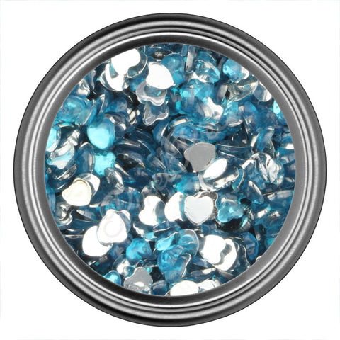 Blue Heart Rhinestone Gem