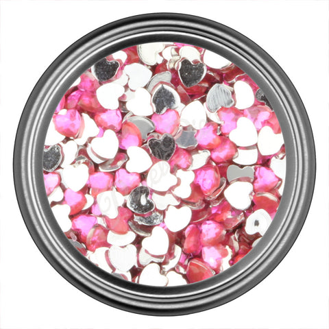 Hot Pink Heart Rhinestone Gem