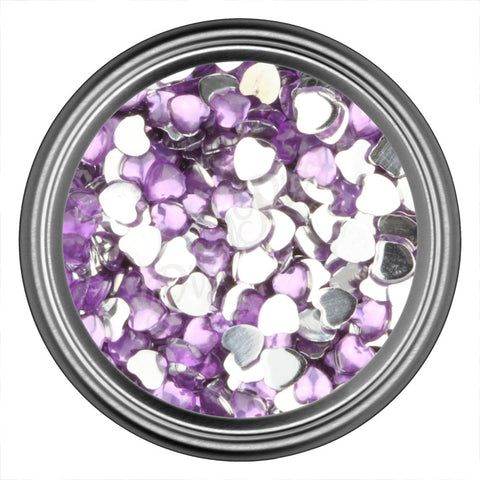 Light Purple Heart Rhinestones