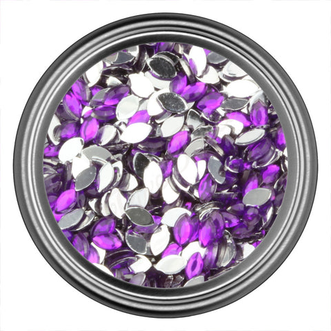 Purple Dark Oval Rhinestones