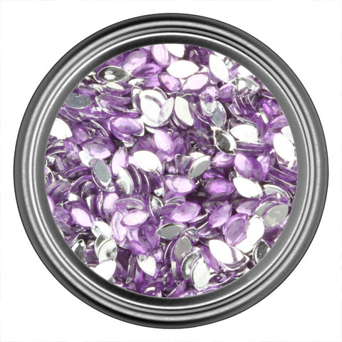 Purple Light Oval Rhinestones