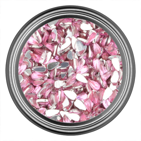 Pink Light Drop Rhinestones