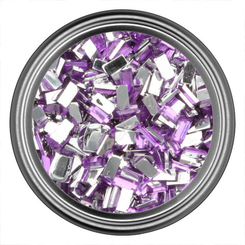 Light Purple Rectangle Rhinestones