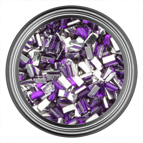 Purple Rectangle Rhinestones