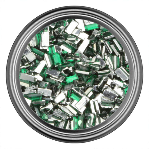Green Rectangle Rhinestones