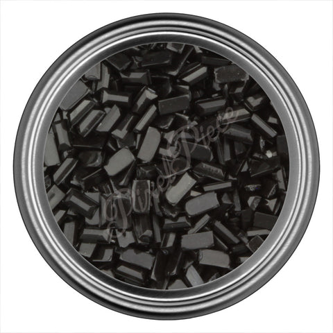 Black Rectangle Rhinestones