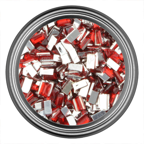 Red Rectangle Rhinestones