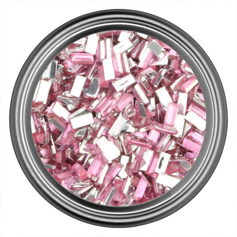 Pink Light Rectangle Rhinestones