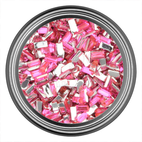 Pink Dark Rectangle Rhinestones