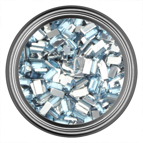 Blue Light Rectangle Rhinestones