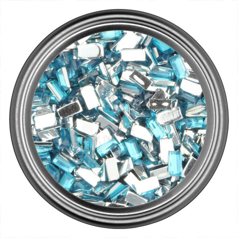 Blue Rectangle Rhinestones