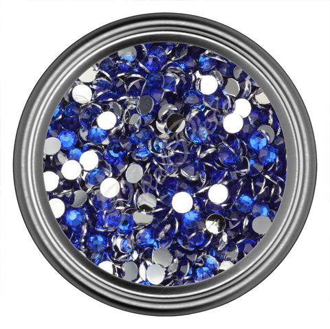 Dark Blue Round Resin Rhinestones 2mm 3mm 4mm 5mm 6mm