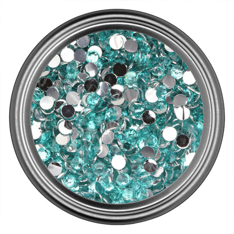 Light Blue Round Resin Rhinestones 2mm 3mm 4mm 5mm 6mm