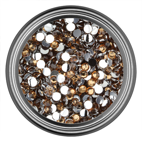 Coffee Round Resin Rhinestones 2mm 3mm 4mm 5mm 6mm