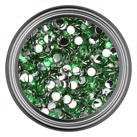 Dark Green Round Resin Rhinestones 2mm 3mm 4mm 5mm 6mm