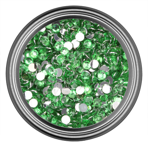 Light Green Round Resin Rhinestones 2mm 3mm 4mm 5mm 6mm