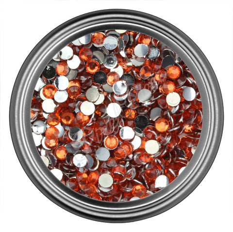 Orange Round Resin Rhinestones 2mm 3mm 4mm 5mm 6mm