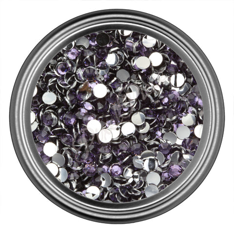 Dark Purple Round Resin Rhinestones 2mm 3mm 4mm 5mm 6mm
