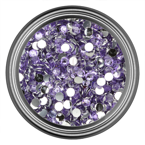 Light Purple Round Resin Rhinestones 2mm 3mm 4mm 5mm 6mm