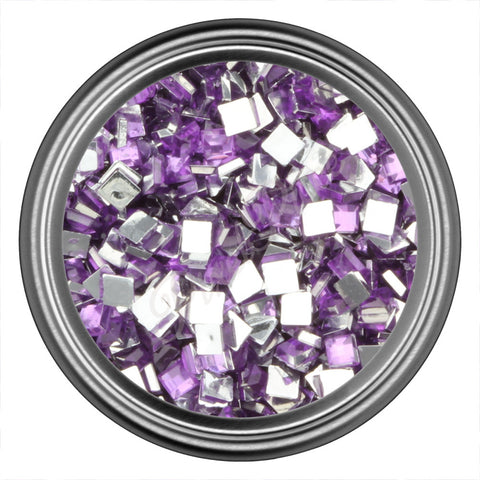 Purple Light Square Rhinestone