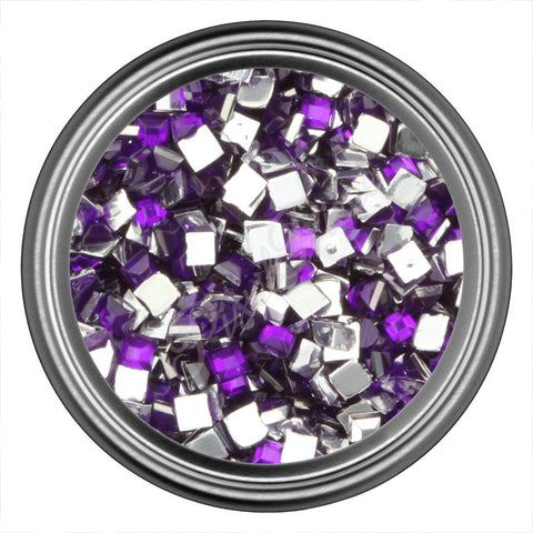 Purple Dark Square Rhinestone